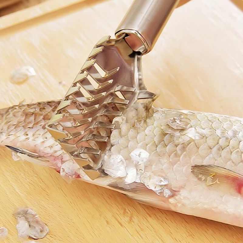 سريع إزالة سكين الأسماك تنظيف مقشرة قشارة مكشطة أدوات مطبخ فرشاة الجلد الأسماك كشط بكرات الصيد فرشاة Graters