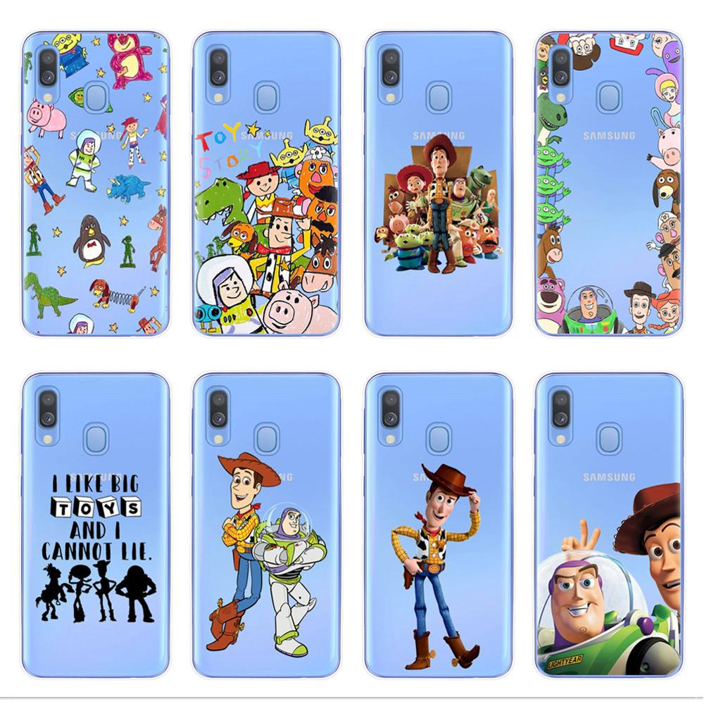 <font><b>Cute</b></font> Cartoon Toy Story Buzz Woody Phone <font><b>Case</b></font> For <font><b>Samsung</b></font> A10 A20 A30 A40 A50 <font><b>A70</b></font> A7 A9 A6 A8 Plus 2018 <font><b>Case</b></font> Silicone Soft Cover image