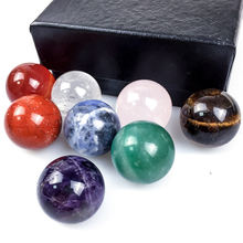 7 шт/пакет натуральный кристалл семь чакра набор медитации камень