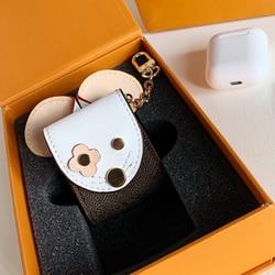 GS001-GS029 Apple AirPods inalámbricos Bluetooth, funda para auriculares, llavero de marca de alta gama, accesorios para bolso, colgante antipérdida
