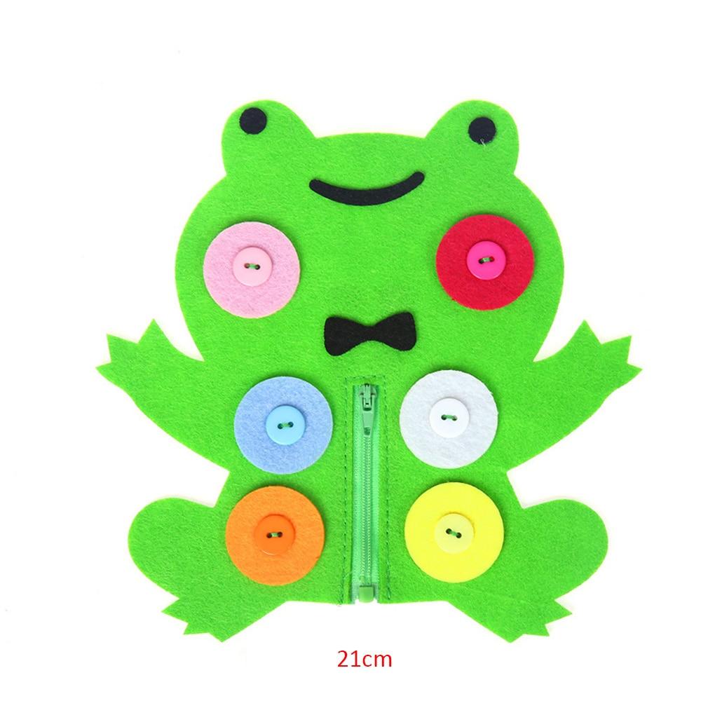 Zipper Button Teaching Kindergarten Manual Diy Weave Cloth Early Learning Education Handmade Montessori FunnyToy Teaching Unisex