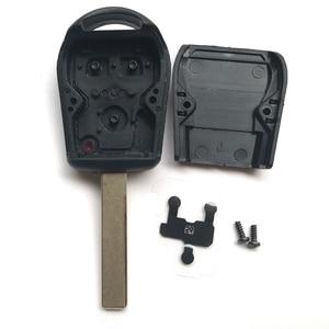Image 4 - 3 przycisk obudowa pilota bez kluczyka dla BMW E39 E36 E31 E32 E38 wymiana inteligentny brelok Auto etui na klucze pokrywa Uncut Blade