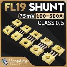 DC Shunts FL-19 Shunt 100A 200A 300A 400A 500A 600A 75mV Schweißen Maschine Messing Widerstand Für Aktuelle Analog Panel Meter