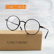 Toketorism ultralight ULTEM(PEI) round frame aluminum-magnesium alloy arms optical glasses women men 2911