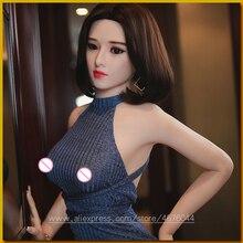 145cm Echt Silikon Sex Puppen Roboter Japanischen Anime Volle Oral Liebe Puppe Realistische Erwachsene für Männer Spielzeug Große Brust sexy Vagina