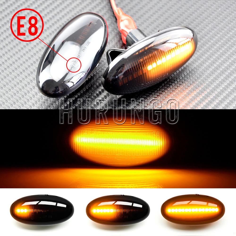 Modern Styling LED Side Indicator Repeater Turn Signal Blinker For <font><b>Mazda</b></font> 2 <font><b>3</b></font> 5 6 GG GY <font><b>MPS</b></font> BT-50 MPV Smoked Clear Dynamic Lights image