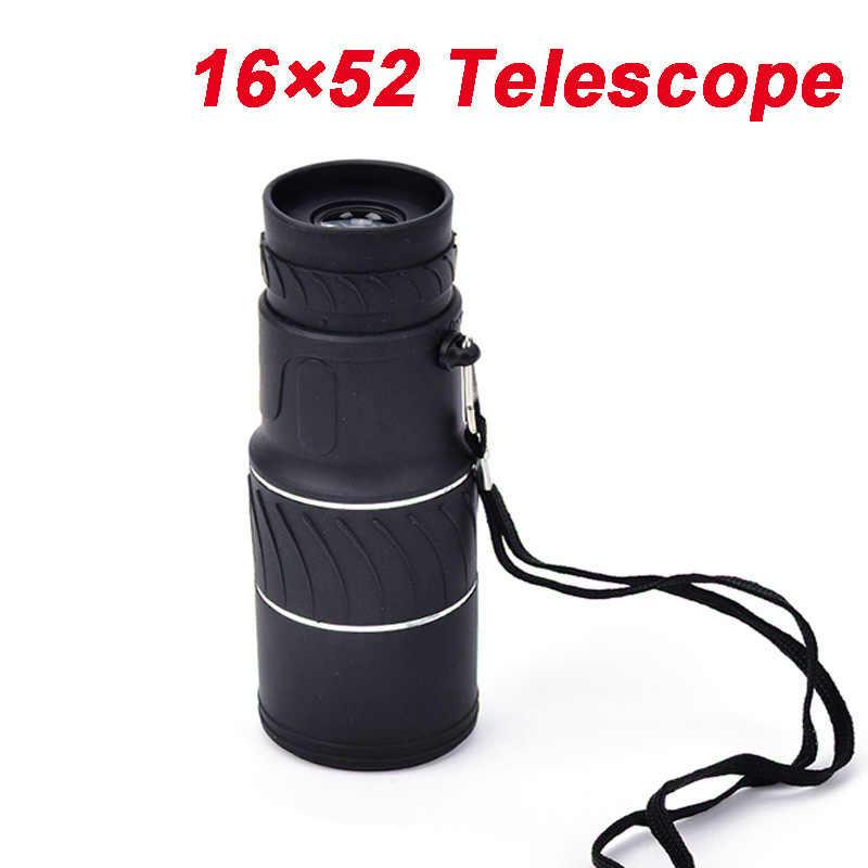 16X52 Двойной фокус Монокуляр водонепроницаемый охотничий зрительный телескоп 16