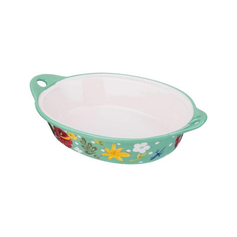 Блюдо для запекания AGNESS, 33*22 см, цветы блюдо для запекания agness 27 см цветы