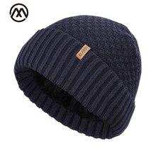 Новая хлопковая шапка, уличная теплая зимняя вязаная шапка для мужчин и женщин, бархатная утолщенная Мужская кепка с черепом, Высококачественная Хлопковая мужская шапка в горошек