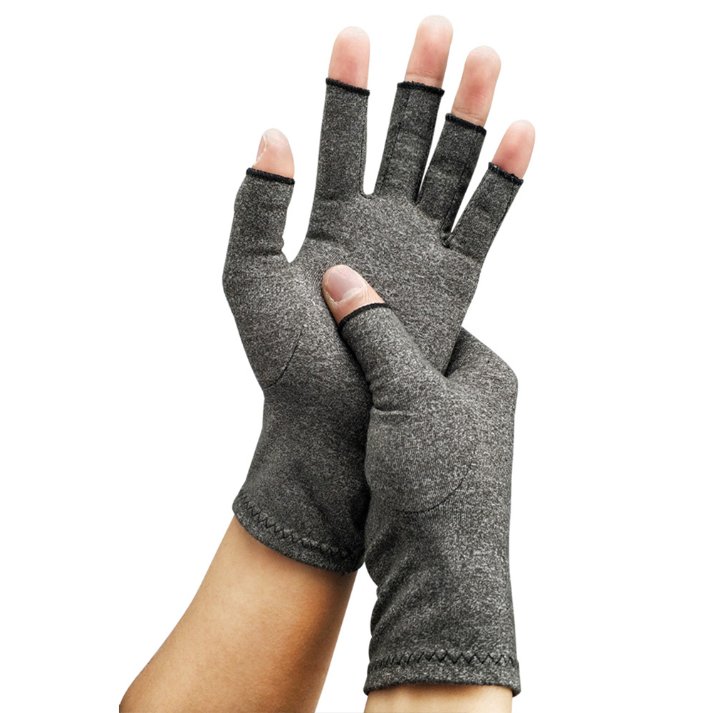 1pair Therapy Wrist Support Unisex Relief Half-finger Health Care Hand Arthritis Lightweight Joint Pain Compression Gloves