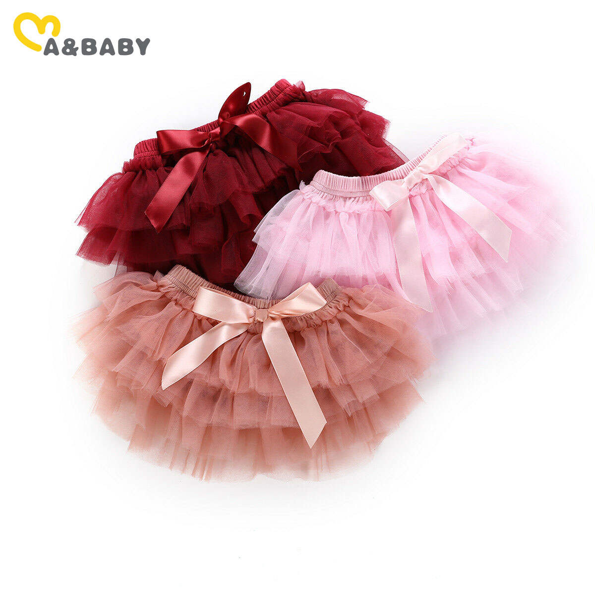 Юбка-пачка для новорожденных девочек 0-24 м, Тюлевая бальная юбка с бантом принцессы, рождественские красные костюмы для маленьких девочек + п...