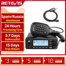 Retevis RT90 DMR راديو المحمول الرقمي اتجاهين سيارة راديو لاسلكي تخاطب 50 واط VHF UHF ثنائي النطاق هام لاسلكي للهواة والاستقبال + كابل