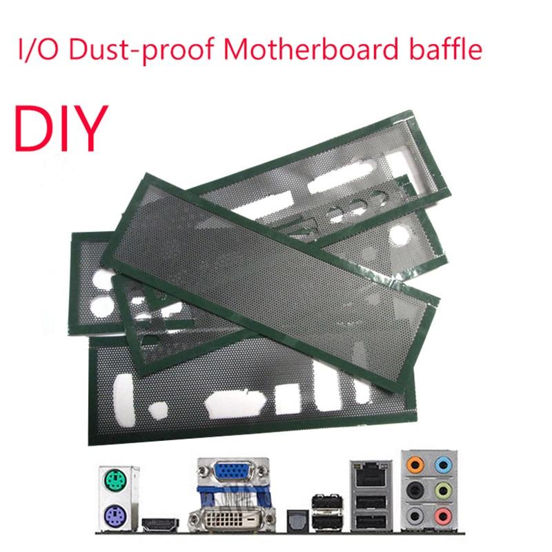 E/O bouclier plaque arrière support de châssis de carte mère universel bricolage bouclier fond de panier PVC filtre à poussière pour châssis dordinateur