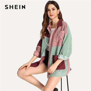 Image 3 - معطف شيين غير رسمي متعدد الألوان بجيب للخريف عصري للنساء