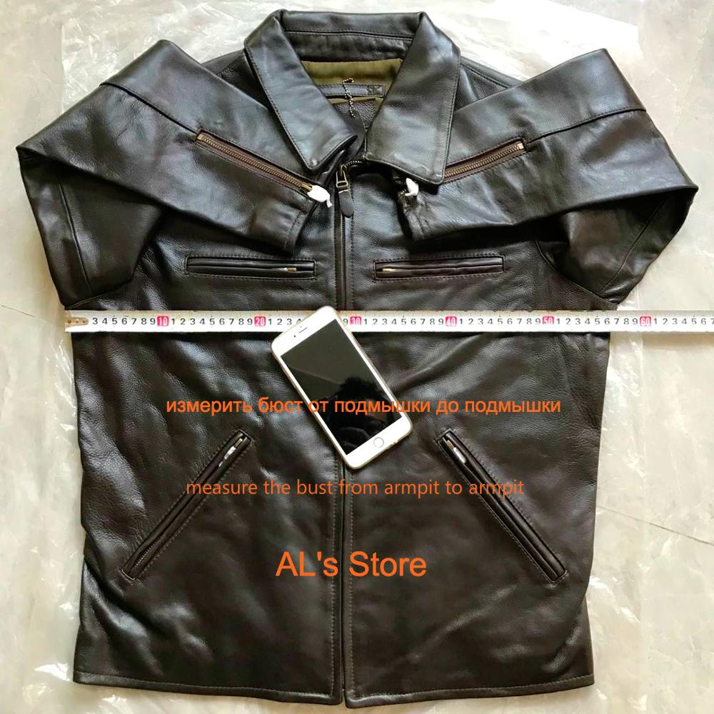 1952 Read Description! Asian size genuine cow skin leather jacket mens cowhide casual British stylish leather blazer 2