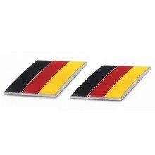 Dsycar 2 unids/par 3D Metal bandera alemana cuerpo del coche guardabarros trasero emblema del maletero para Volkswagen Audi Bmw Mercedes Benz Porsche