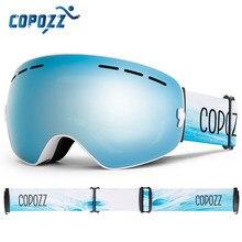 COPOZZ marque professionnel lunettes de Ski Double couches lentille Anti-buée UV400 grandes lunettes de Ski Ski Snowboard hommes femmes lunettes de neige