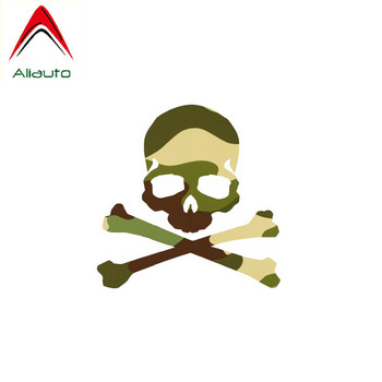 Aliauto Funny Car Sticker Camouflage Skull Accessories PVC Decal Cover Scratches for Suzuki Swift Tiguan Infiniti,10cm*10cm image