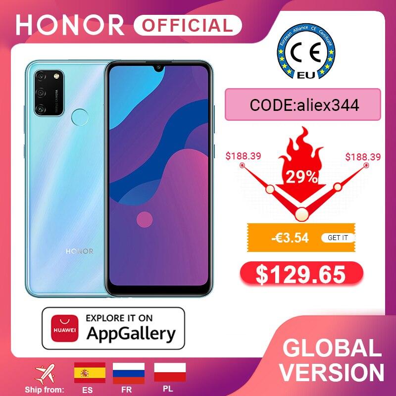 هاتف ذكي جديد الإصدار العالمي Honor 9A بذاكرة وصول عشوائي 3 جيجابايت وذاكرة قراءة فقط 64 جيجابايت وشاشة 6.3 بوصات كاميرا ثلاثية 13 ميجابكسل مع خاصية إلغاء التأمين ببصمة الوجه وبطارية 5000 مللي أمبير في الساعة|الهواتف المحمولة|   - AliExpress