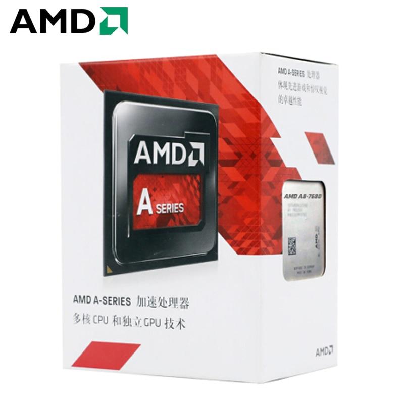 AMD APU A8-7680 A8 7680 3.5GHz R7 Quad-Core Desktop CPU Processor L2=2M 45W DDR3 Socket FM2+ New and with fan 1