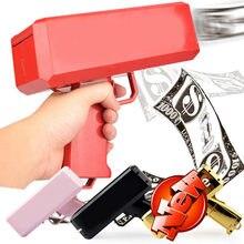 Tukato torná-lo chuva arma de dinheiro vermelho canhão de dinheiro super arma brinquedos 100 pçs contas jogo festa diversão ao ar livre moda presente pistola brinquedos