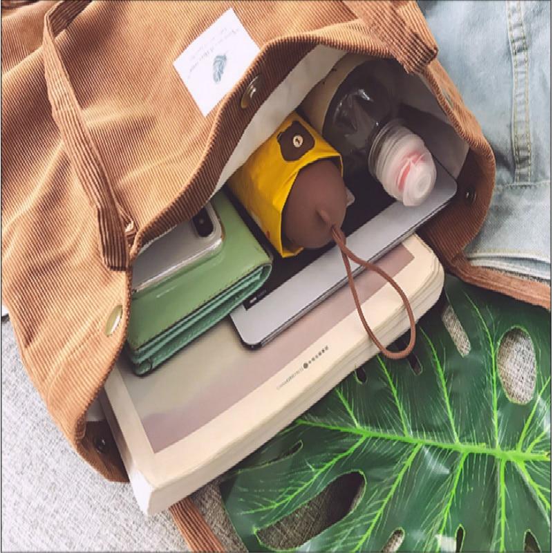 Tassen voor dames corduroy schoudertas herbruikbare - Handtassen - Foto 5