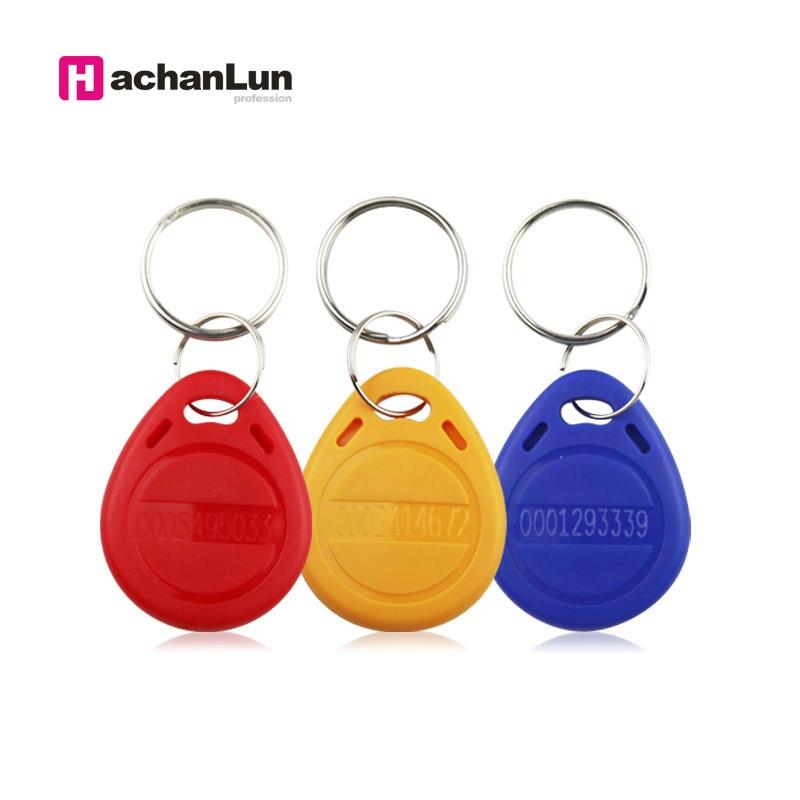 5/10Pcs/lot 125khz RFID  ID Card Read Only Access Control RFID Card EM4100 TK4100 Key Fobs Token Tags Keyfobs Keychain