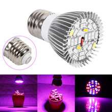 New Growing Lamps 8W/28W E27 LED Flower Seed Plants Hydroponic System Grow Light Lamp Bulb Full Spectrum dropshipping(China)