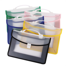 A4 Large Capacity Heavy Weight Portable Blank Space Edging Plastic File Bag PP Test Paper File Storage Bag Big  File Folder