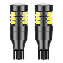 2pcs W16W LED T15 T20 1156 P21W BA15S 7440 W21W 3156 P27W LED Bulb Car Brake Backup Reserve Lights Bulb for Opel HYUNDAI TOYOTA