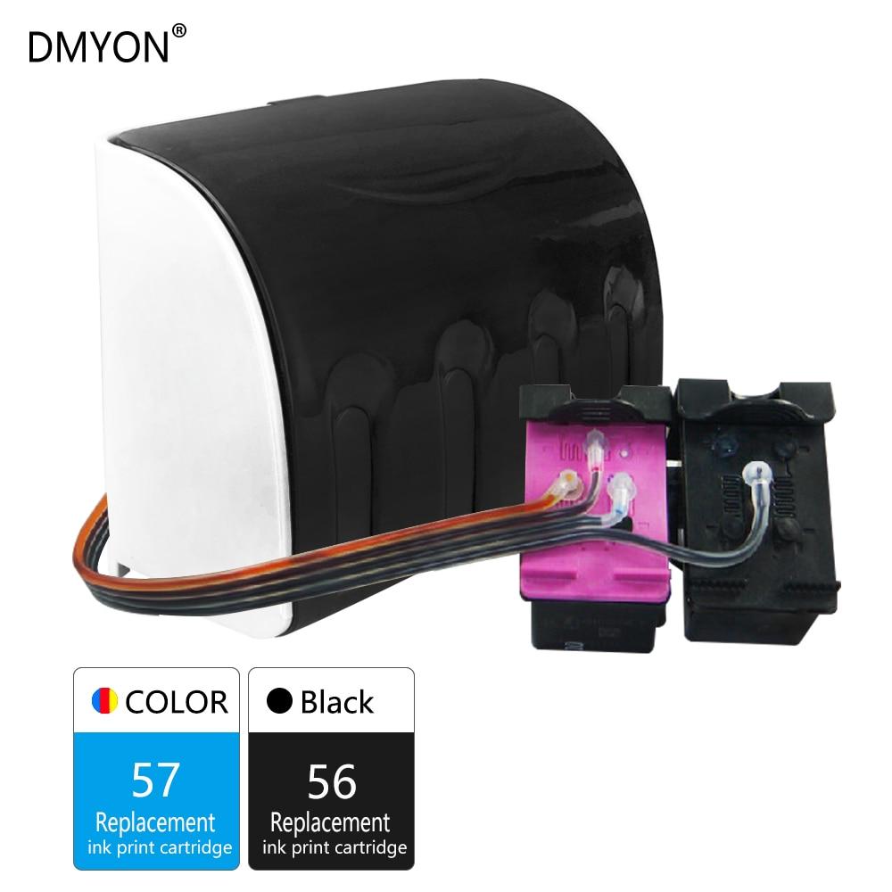 DMYON 57 56 D'encre En Vrac De Remplacement pour Hp 57 56 pour Deskjet 450 450cbi 450ci 450wbt F4140 F4180 5150 5550 5652 5655 Imprimante
