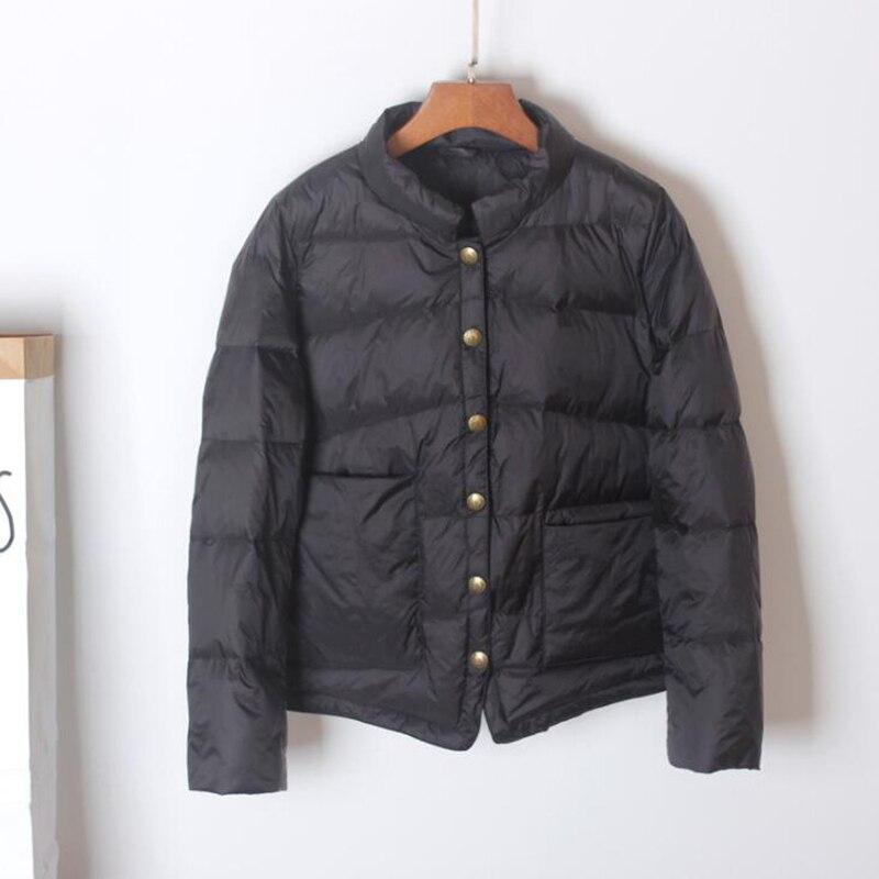 SEDUTMO Winter Ultra Light Duck Down Coat Women Short Oversize Jackets Slim Autumn Puffer Jacket Pocket Parkas ED862 2