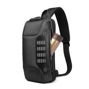 Image 2 - OZUKO Bolso cruzado multifunción para hombre, bolsas de mensajero de hombro antirrobo, impermeable, de viaje corto, 2020