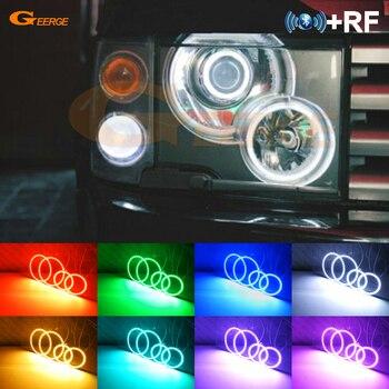 RF remote Bluetooth APP Multi-Color RGB LED Angel Eyes kit For Land Rover Range Rover L322 2002 2003 2004 2005 Xenon Headlight