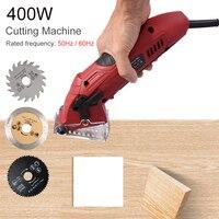 400W Metal Chainsaw Mini Circular Saw Electric Wood Cutting Tool for Woodworking Portable Cutting Machine Home DIY Power Tools