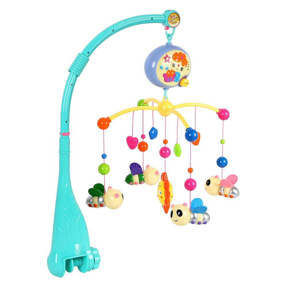 Kid Baby Musical Crib Bed Cot Mobile Bee Animal Pendants Nusery Lullaby Toy 360 Degree Rotatable Cross Rack Baby Ring/bed Bell