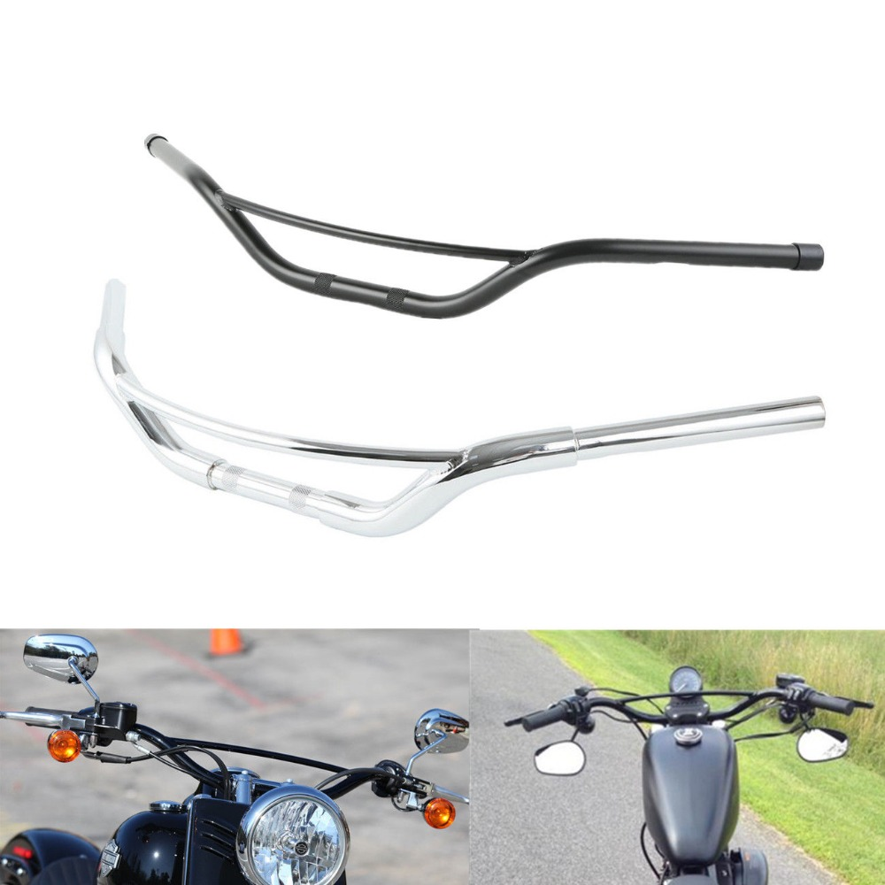 1/'/' Motorcycle Chrome Handlebar For Harley Softail Dyna Sportster XL883 XL1200