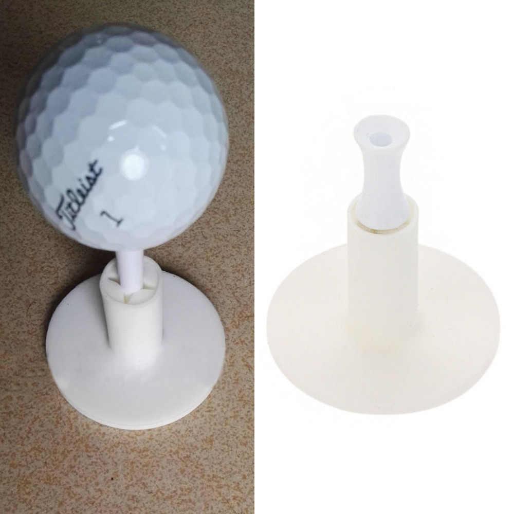 Kauçuk Golf Tees Tutucu Golf Sürüş Aralığı Için Tee Uygulama Aracı Beyaz