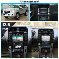 vertical Tesla screen Android 8.1 Car Multimedia Player head unit for TOYOTA Land Cruiser Prado 150 2010 - 2013 GPS Radio stereo