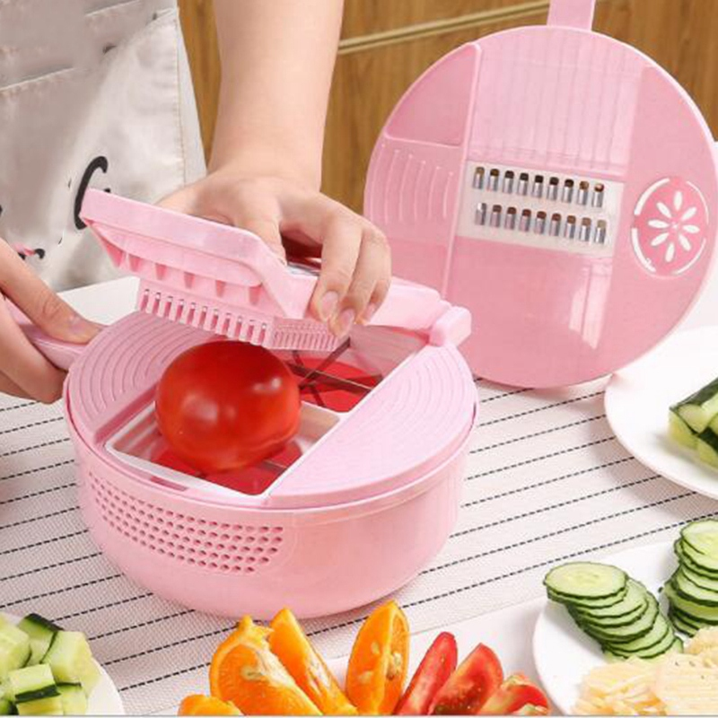 Best 11 in 1Mandoline Slicer Vegetable Slicer Potato Peeler Carrot Onion Grater with Strainer Vegetable Cutter Kitchen Accessori|Other Kitchen Specialty Tools| |  - title=