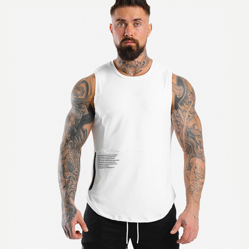 New Casual Bodybuilding Tank Top Men Gyms Fitness Skinny Breathable Sleeveless Shirt Jogger Sports Vest Quick Dry Top Clothing