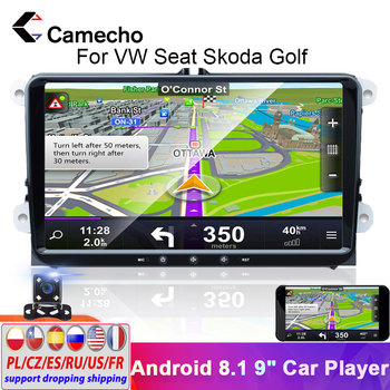 Camecho 2 Din Car Radio Android 8.1 GPS Navigation 2din Autoradio For VW Volkswagen Skoda Fabia Altea Octavia Golf Polo Stereo image