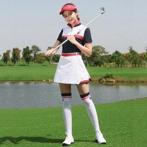 Barra di TRAINO PGM Golf Pannello Esterno + Golf T delle Donne della Camicia di Blocco di Colore di Azione di Sport per Tennis Golf Abbigliamento Da Golf Vestiti 1 set