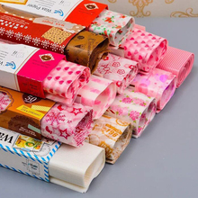 50Pcs/Set Wax Paper Food Grade Grease Wrappers Wrapping For Bread Sandwich Burger Fries Oilpaper Nougat wrapper