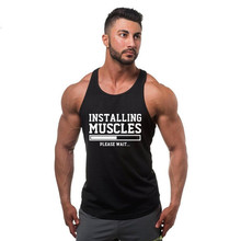 New Brand Gyms Stringer Clothing Bodybuilding Tank Top Men Fitness Singlet Sleeveless Shirt Solid Cotton Muscle Vest Undershirt adogirl solid lace patchwork ruffle hem bodycon dress o neck long flare sleeve sheath midi party dresses office lady work wear