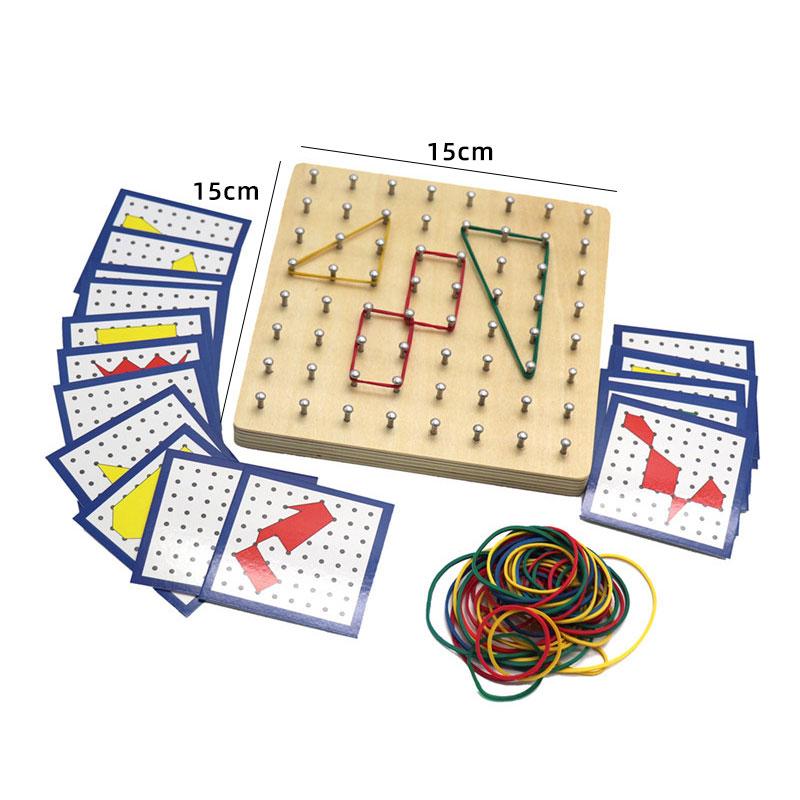 Kids Wooden Montessori Toys Memory Match Stick Educational Color Cognitive Geometric Shape Puzzles Toys For Children 15