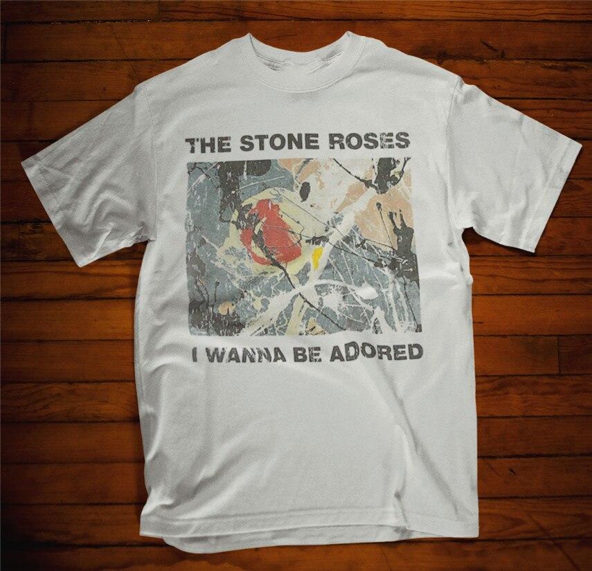 The Stone Roses *Self Titled Album Rock Band Black T-Shirt Size S M L XL 2XL 3XL