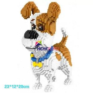 Image 2 - 2000 + szt. 16013 Mike Dog Building Blocks diamentowe mikro małe elementy pisownia zabawkowe zwierzątko Dog Block zabawki modele dla dzieci prezenty