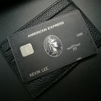 Metal card black card and production American express gift card 1