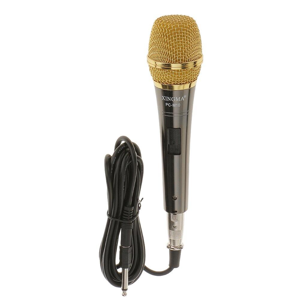 Black & Gold Professional Condenser Microphone Mic Sound Studio Recording